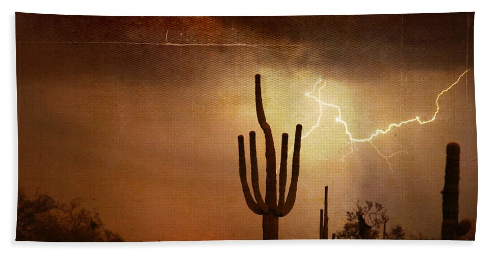 Southwest Beach Towel featuring the photograph Desert Landscape Southwest by James BO Insogna