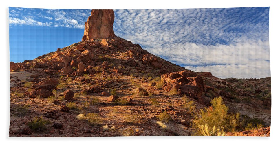 Landscape Beach Towel featuring the photograph Desert Spire by James Eddy