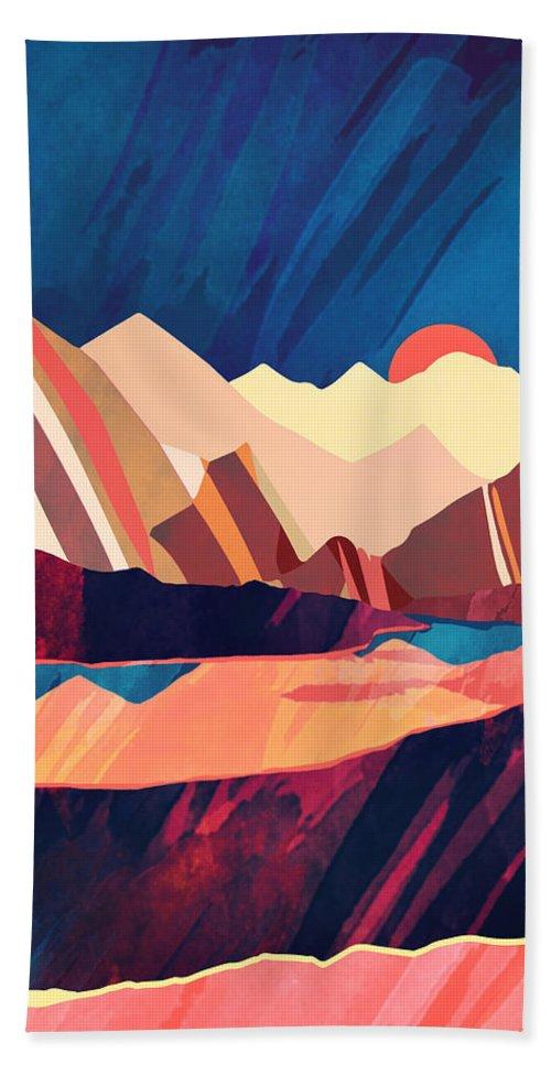 Desert Beach Towel featuring the digital art Desert Valley by Spacefrog Designs