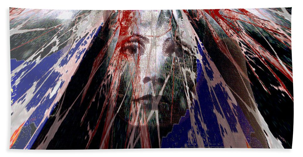 Despair Beach Towel featuring the digital art Despair by Seth Weaver