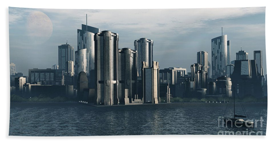 Futurism Beach Towel featuring the digital art Destiny by Richard Rizzo