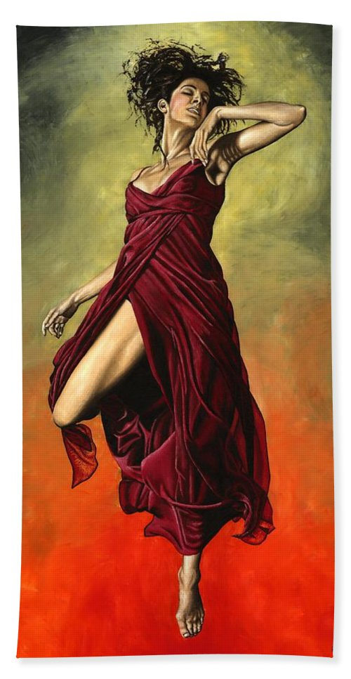 Dance Beach Towel featuring the painting Destiny's Dance by Richard Young