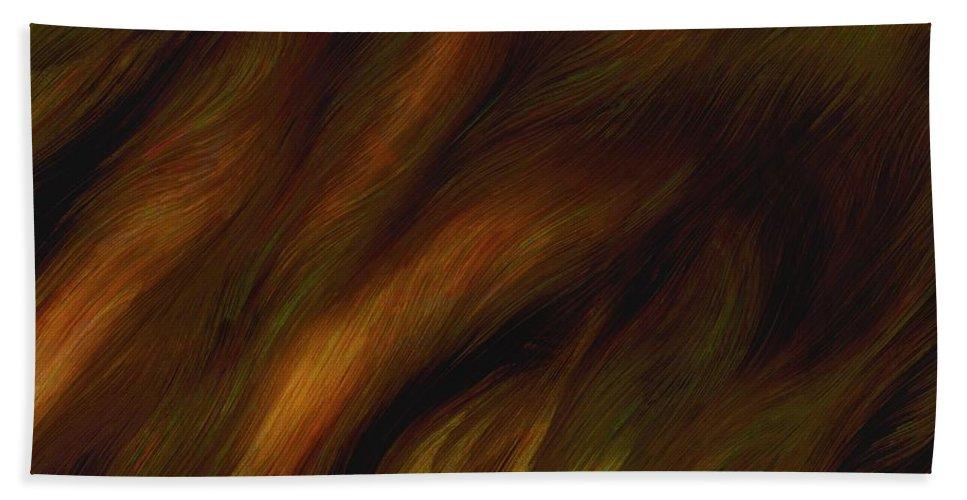 Auburn Beach Towel featuring the painting Detail - Pre-raphaelite Tresses by RC DeWinter