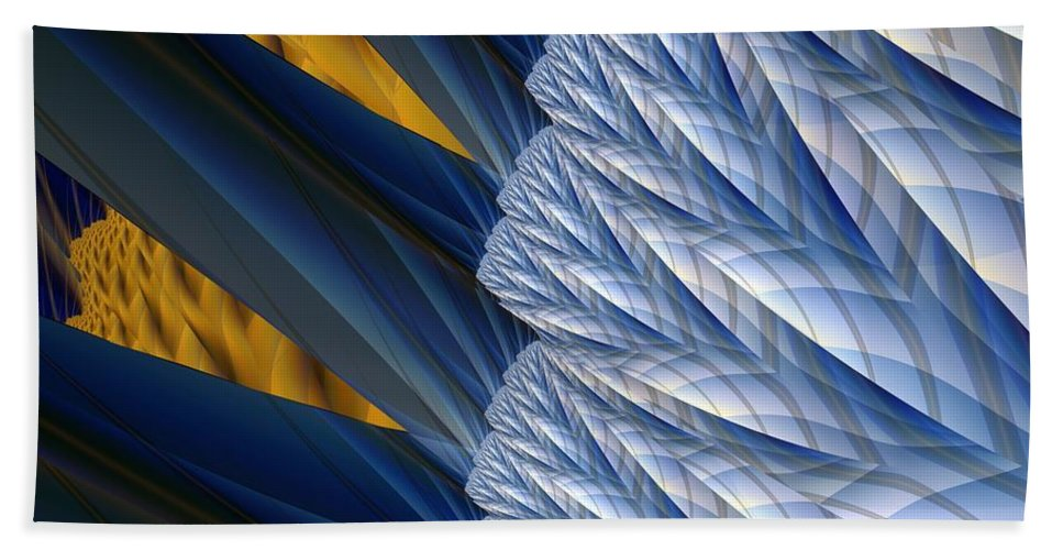 Montage Beach Towel featuring the digital art Detail by Ron Bissett