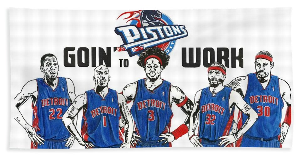 Detroit Goin To Work Pistons Beach Towel For Sale By Chris Brown