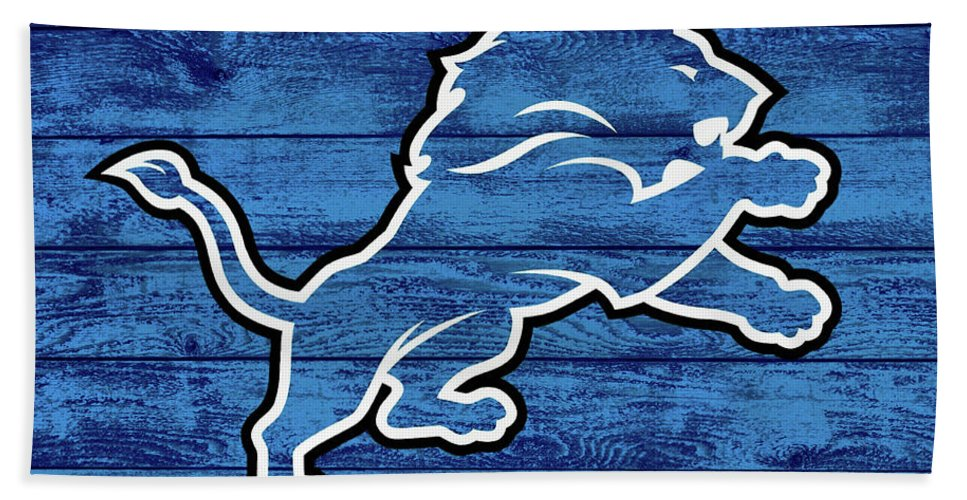 reputable site 616b3 64899 Detroit Lions Barn Door Beach Towel