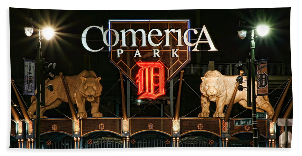 Detroit Beach Towel featuring the photograph Detroit Tigers - Comerica Park by Gordon Dean II