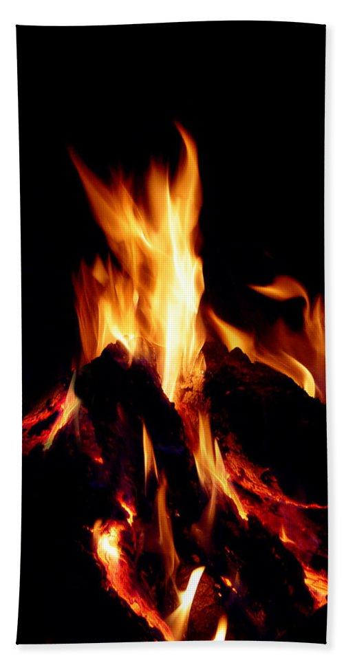 Devil Beach Towel featuring the photograph Devil Fire by Peter Piatt