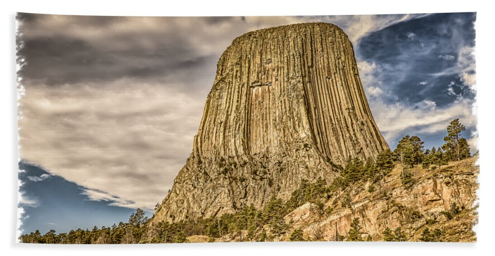 Landscape Beach Towel featuring the photograph Devils Tower Inspiration 3 by John M Bailey