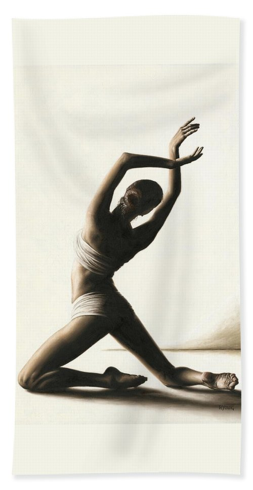 Dancer Beach Towel featuring the painting Devotion to Dance by Richard Young