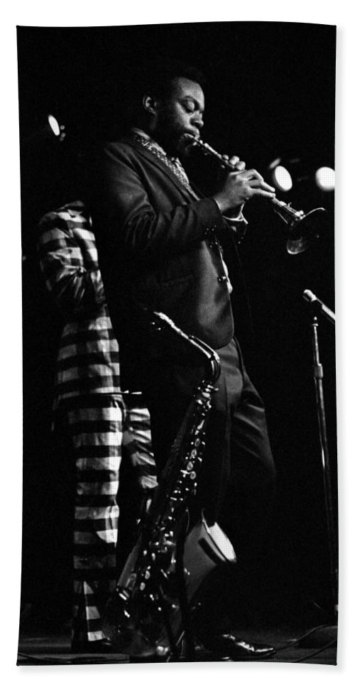 Dewey Redman Beach Sheet featuring the photograph Dewey Redman by Lee Santa