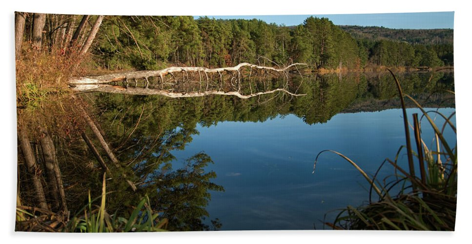 vermont Images Beach Towel featuring the photograph Dewey's Pond by Paul Mangold