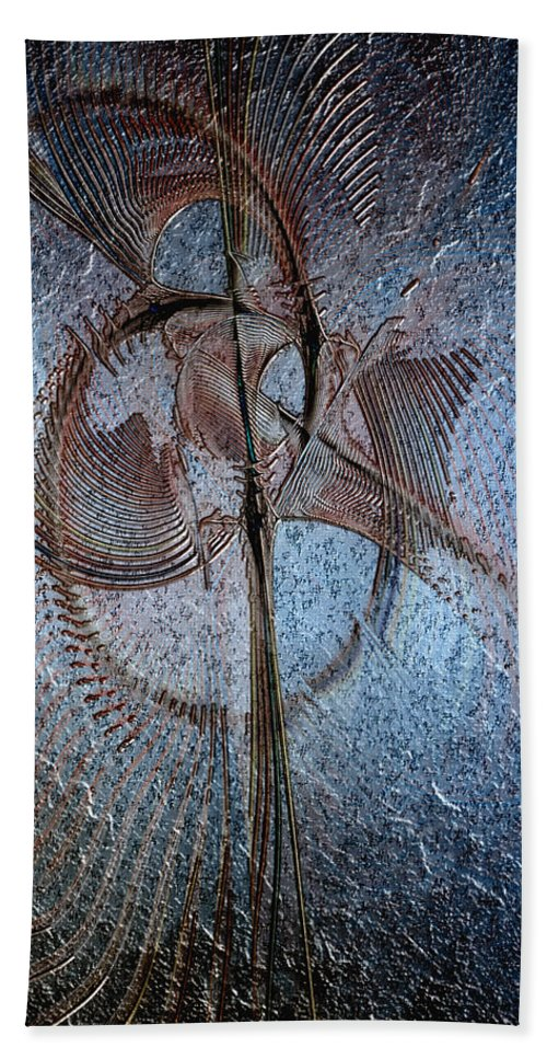 Abstract Beach Towel featuring the digital art Diachrony Of Altruism by Casey Kotas
