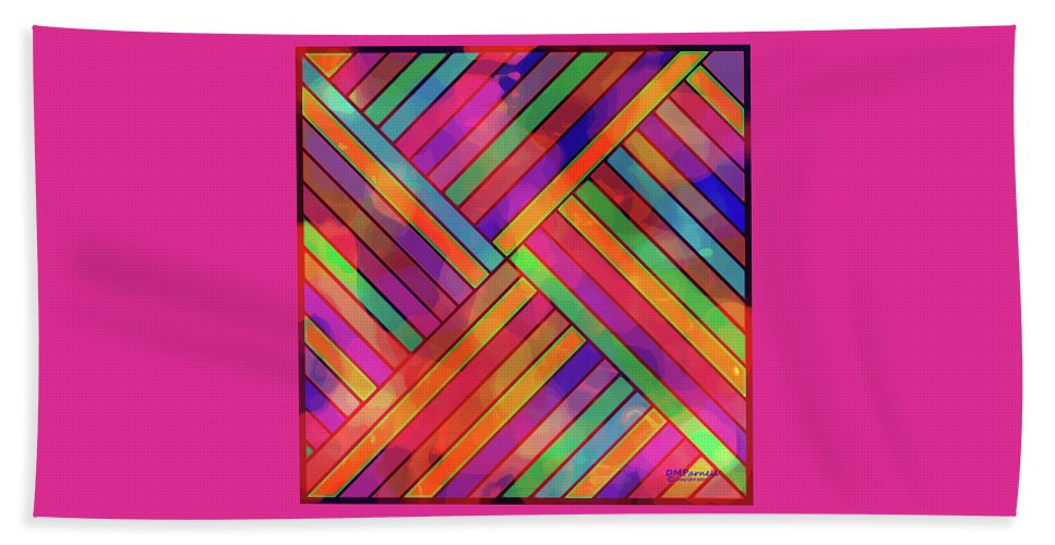 Diagonal Beach Towel featuring the digital art Diagonal Offset by Diane Parnell