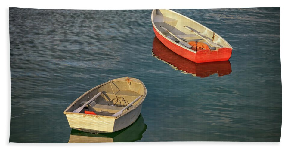 Dinghies Beach Towel featuring the photograph Dinghies by Rick Berk
