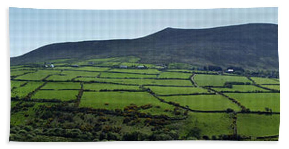 Irish Beach Towel featuring the photograph Dingle Peninsula Panorama Ireland by Teresa Mucha