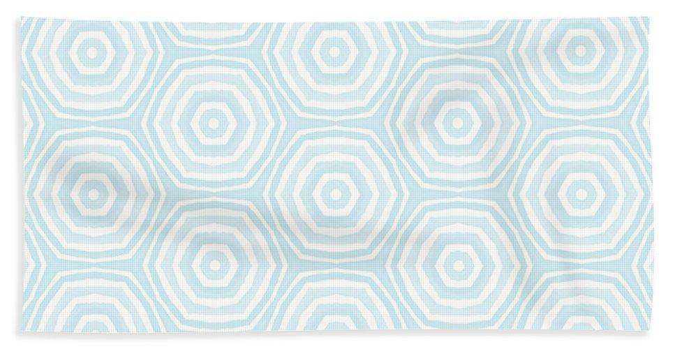 Circles Beach Towel featuring the digital art Dip In The Pool - Pattern Art by Linda Woods by Linda Woods