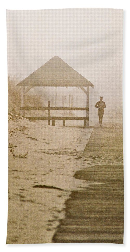 Landscape Beach Sheet featuring the photograph Disappearance by Steve Karol