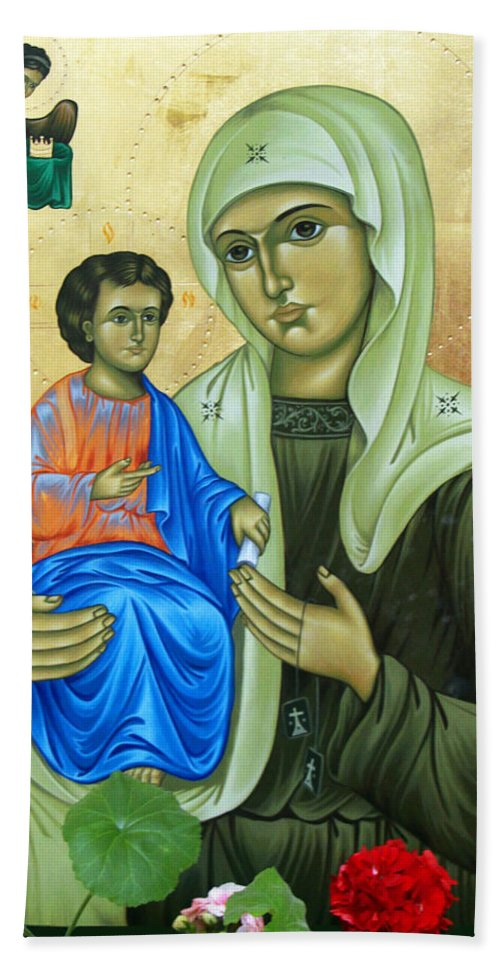 Baby Jesus Beach Towel featuring the painting Discalced Carmelite Painting by Munir Alawi