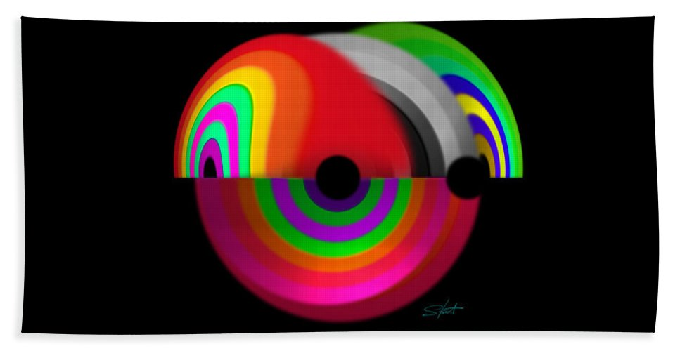 Discus Beach Towel featuring the digital art Discus by Charles Stuart