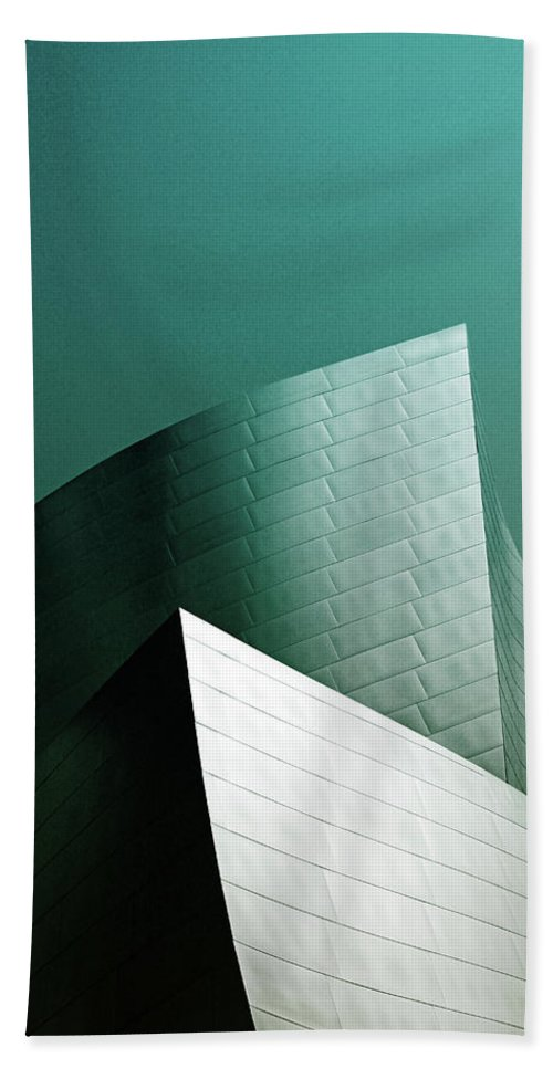 Disney Concert Hall Beach Towel featuring the photograph Disney Conert Hall 2- Photograph By Linda Woods by Linda Woods