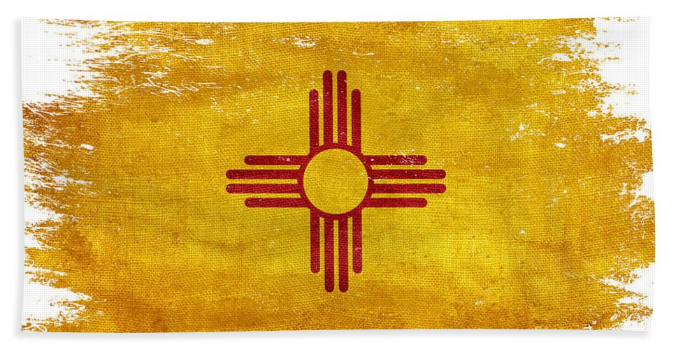 New Mexico Vintage Distressed State Flag All Over Beach Towel