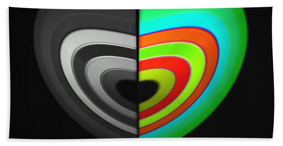 Beach Towel featuring the digital art Divided Heart by Charles Stuart