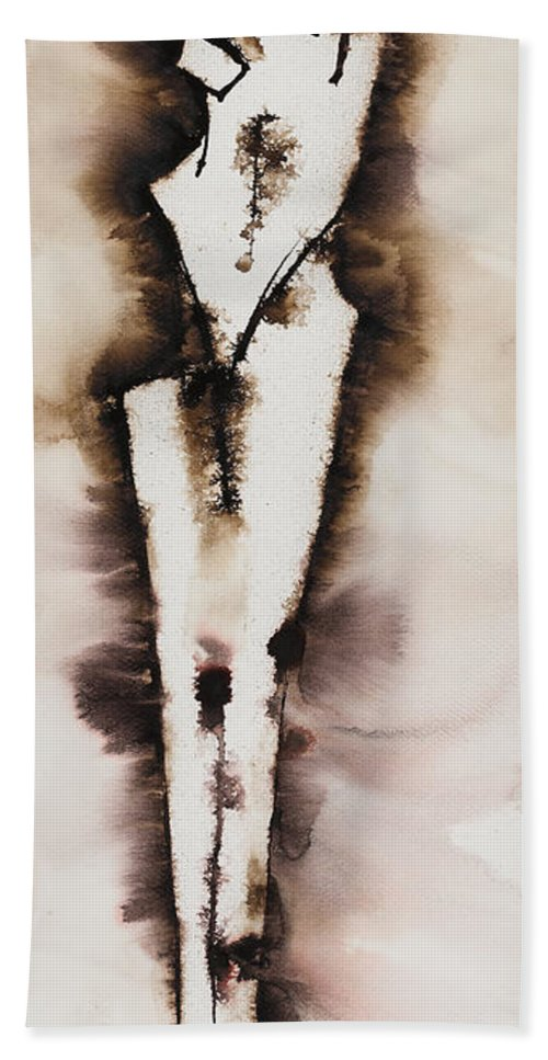 Ilisa Millermoon Beach Towel featuring the painting Divine Love Series No. 2042 by Ilisa Millermoon