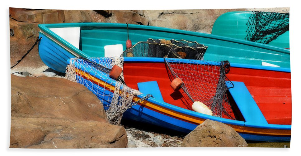 Anchored Beach Towel featuring the photograph Docked by Joel Witmeyer