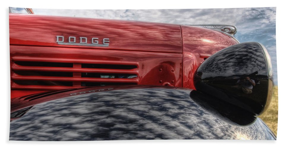 Dodge Beach Towel featuring the photograph Dodge Truck by Joel Witmeyer