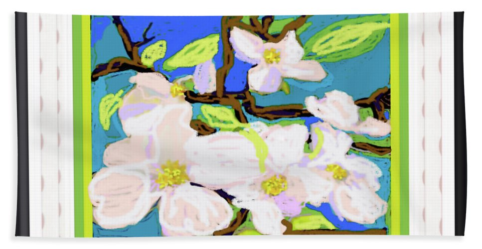 Beach Towel featuring the photograph Dogwood In Bloom by Shirley Moravec