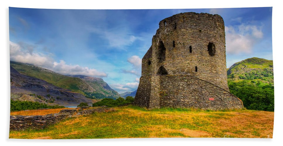 Castle Beach Towel featuring the photograph Dolbadarn Castle by Adrian Evans