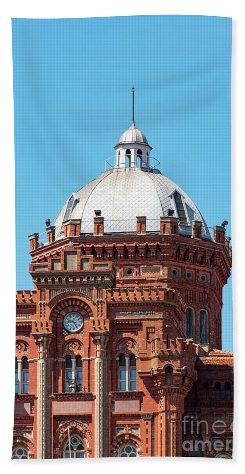 Fener Beach Towel featuring the photograph Dome On Phanar Greek Orthodox College by Bob Phillips
