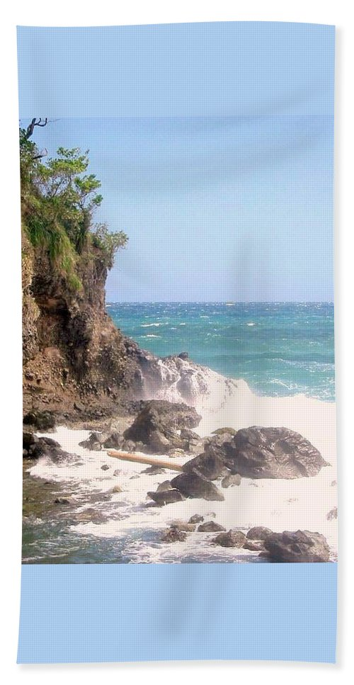 Dominica Beach Sheet featuring the photograph Dominica North Atlantic Coast by Ian MacDonald