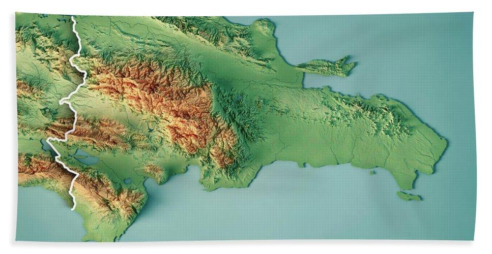 topographic map of dominican republic Dominican Republic 3d Render Topographic Map Border Beach Sheet