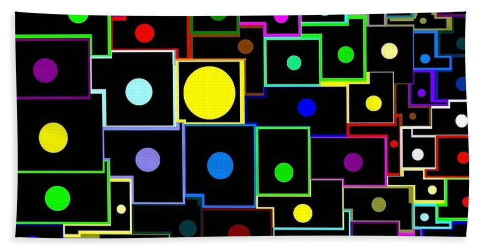 Abstract Beach Towel featuring the digital art Domino Effect by Will Borden