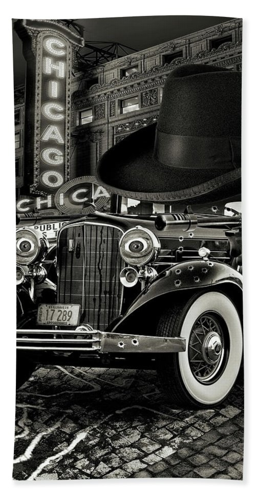 American Beach Towel featuring the digital art Don Cadillacchio Black And White by Marian Voicu