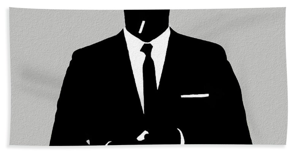 Don Draper Mad Men Silhouette Beach Towel for Sale by Dan Sproul