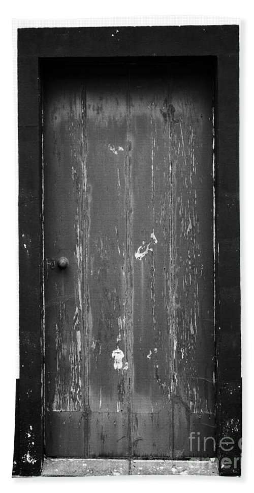 Closed Beach Sheet featuring the photograph Door by Gaspar Avila