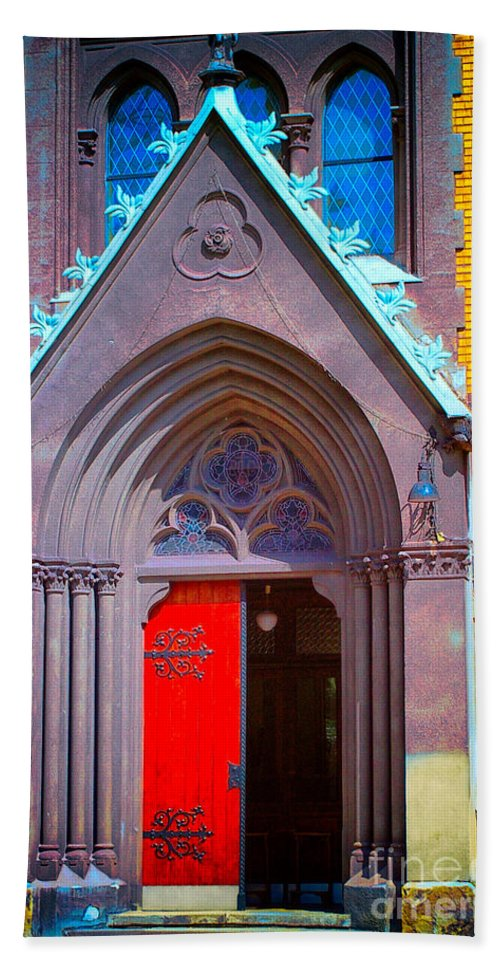 Gate To Heaven Beach Towel featuring the photograph Doorway To Heaven by Mariola Bitner