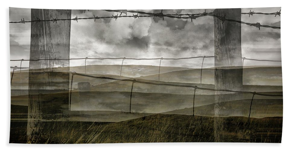 Abstract Beach Towel featuring the photograph Double Exposure Landscape by Kelly Jenkins