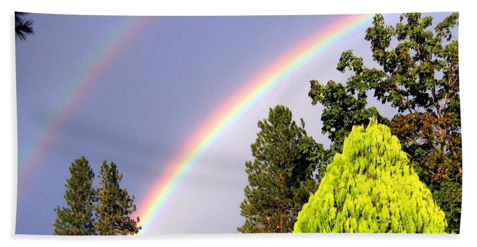 Rainbow Beach Towel featuring the photograph Double Rainbow by Will Borden