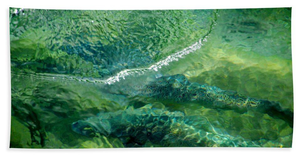 Water Beach Towel featuring the photograph Double Trouble by Donna Blackhall