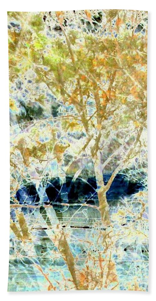 Abstract Beach Towel featuring the digital art Double Vision by Will Borden