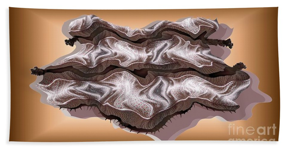 Abstract Beach Towel featuring the digital art Doubt Its Redoubt by Ron Bissett