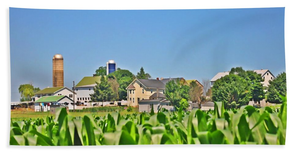 Gettysburg Beach Towel featuring the photograph Down On The Farm by Bill Cannon