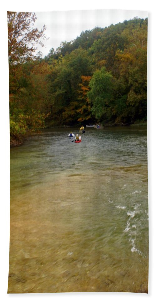 Current River Beach Towel featuring the photograph Downstream by Marty Koch