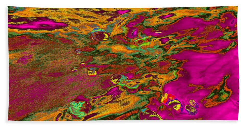 Tides Beach Towel featuring the photograph Dp Stone Impressions 14 by Gary Bartoloni