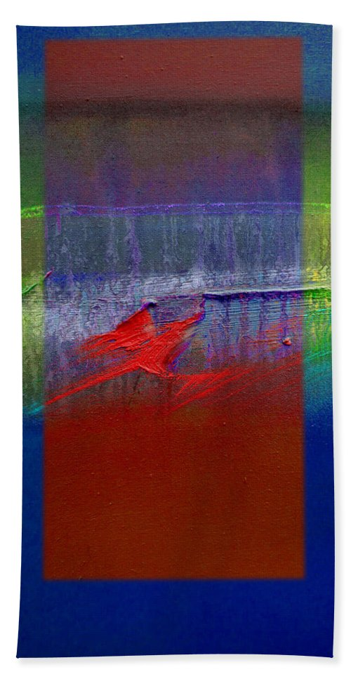 Landscape Beach Towel featuring the painting Dragon Coast by Charles Stuart