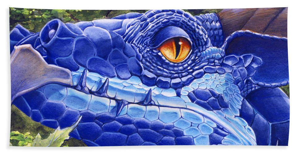 Dragon Beach Towel featuring the painting Dragon Eyes by Melissa A Benson
